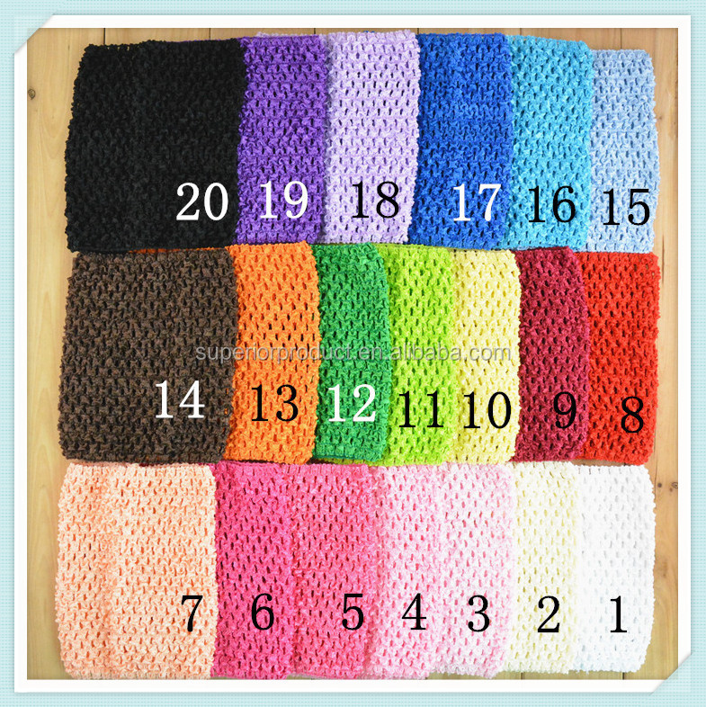 6 Inch 15cm X 15cm New Baby Girl Elastic Rayon Waffle Headbands Crochet Tutu Tube Tops Chest Wrap