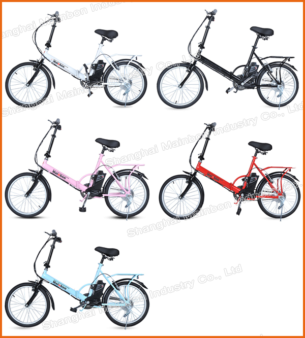 The China 24V lithium battery folding electric bike 2017