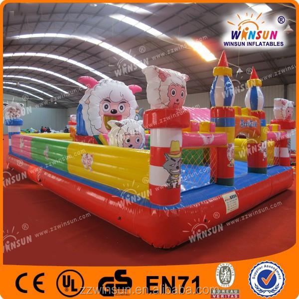 Commercial inflatable Giant fun city for business rental
