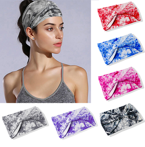 Twist Elasticity Turban Headbands for Women Sport Head band Yoga Headband Headwear Hairbands Bows Girls Hair Accessories E114