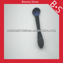 New fashion double end makeup foam brushes, beauty cosmetic makeup brushes,with double color hair