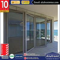 AS2047 aluminum residential interior and outside bi-folding glass doors