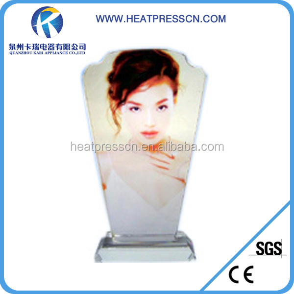 Sublimation Photo Crystal Trophy with good service