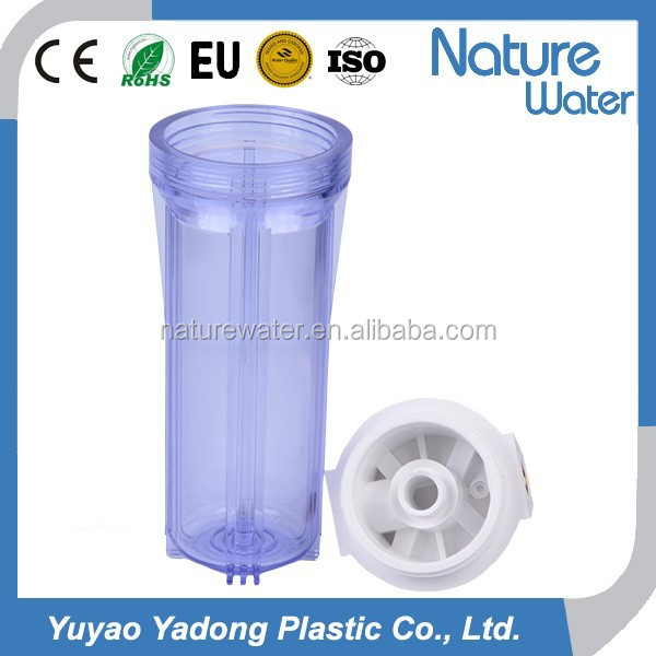 "10"" clear water filter housing for home water purifier"
