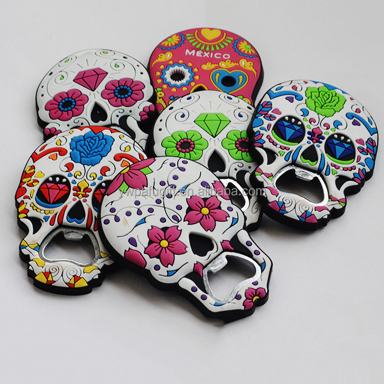 Halloween party favor Bottle Opener Day of the Dead Mexico Skull Souvenirs