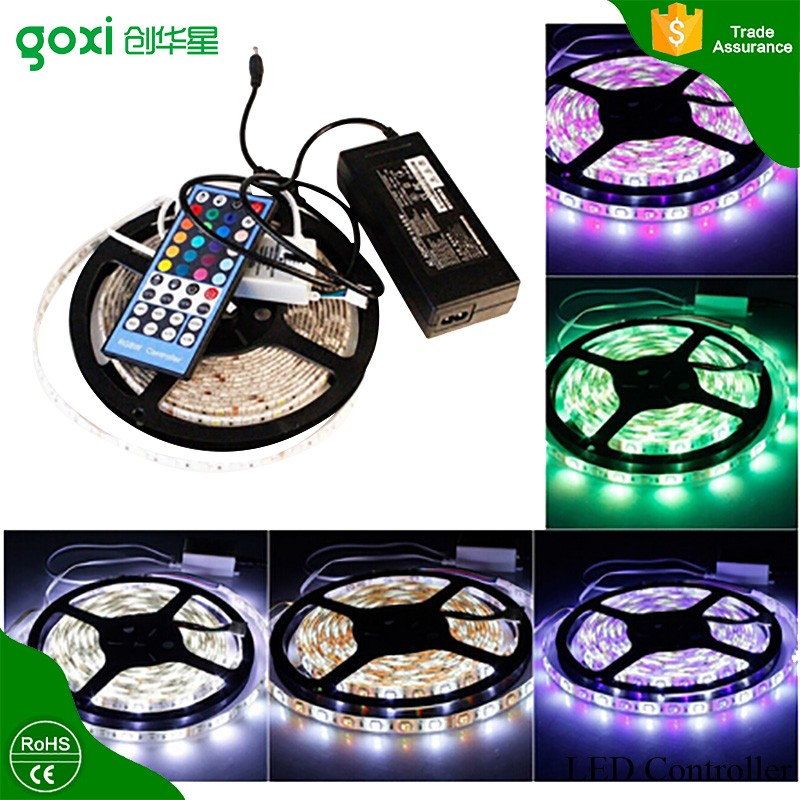 heat resistant xmas decorate led 12v 24v strip light with single color multi color