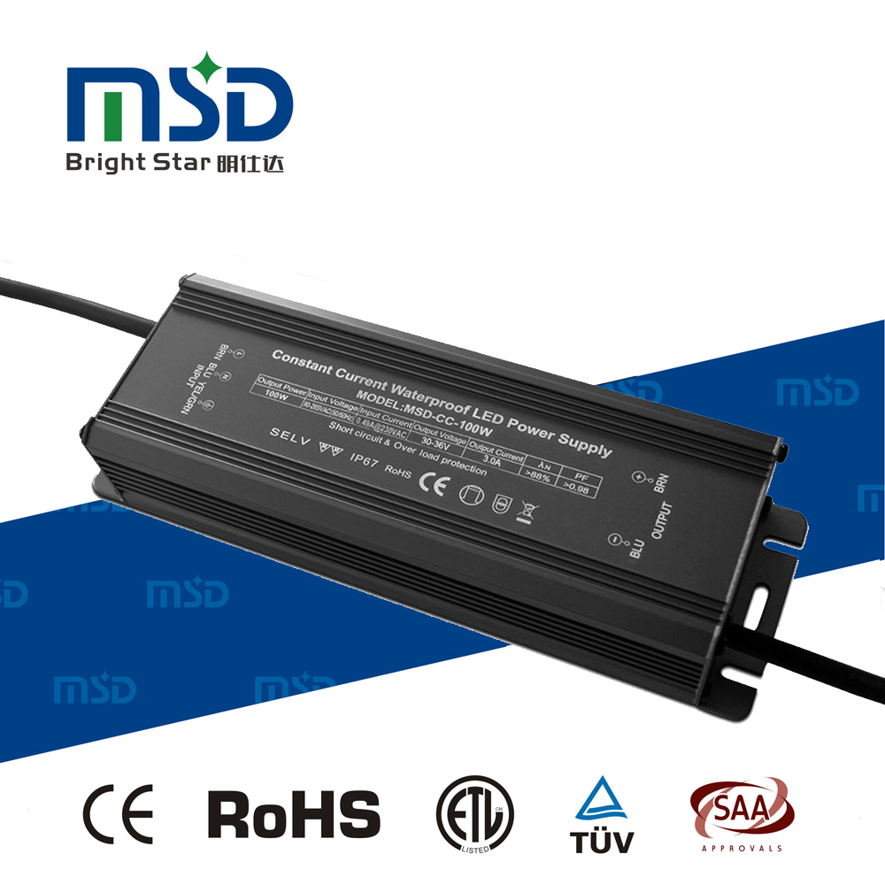 450mA 100W Constant Current Multiple Output Waterproof LED Driver , IP67 Switching LED Power Supply