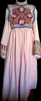 Afghani Tea Pink Dress Pakistani Indian Shalwar Kameez