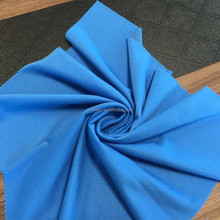 Waterproof silkly super poly fabric brushed velvet fabric from china knitted factory