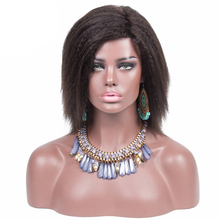 Wholesale Natural Hair Lace Wig Afro Yaki Straight Lace wig human hair
