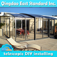 East Standard top quality save energy green house glass aluminum sunroom