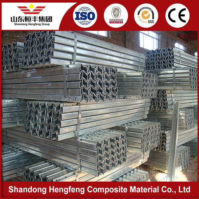 High intensity steel Galvanized W Beam Highway Guardrail
