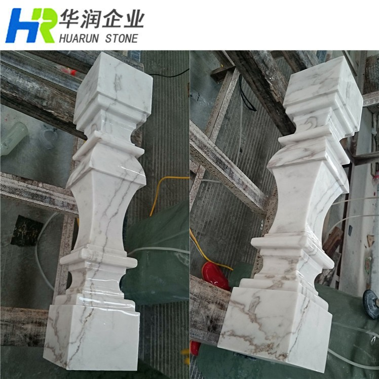 Volakas White Marble Outdoor Free Standing Handrails