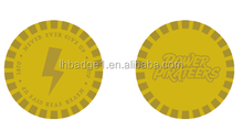 gold embossed ABS plastic token coin