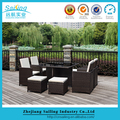 NEW Wicker 5pc Garden Rattan Outdoor Dining Furniture Table and Chair Set