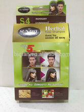 Hair Color Shampoo Dark Brown, Easy Use Hair dying Color