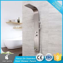 Excellent Rainfall Wall Higt Quality 304 Sus 304Ss Stainless Steel Shower Panel