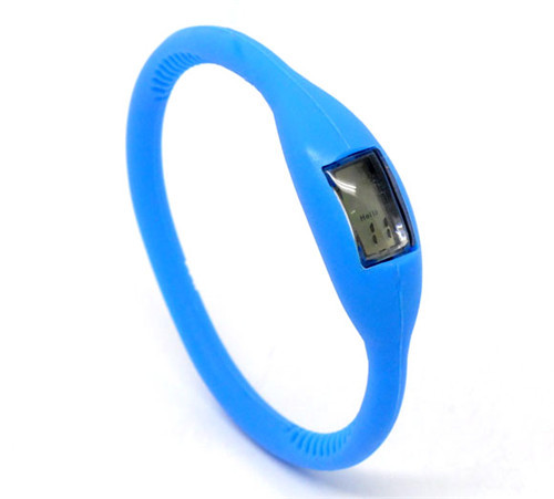 Blue Minus Ion Silicone Sports Digital Wrist Watches 18cm