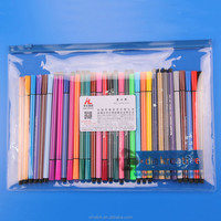 stand up clear file pvc plastic pencil case with zipper lock