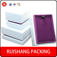 Present Gift white Jewelry purple Velvet Necklace/Earring/Ring Paper jewelry Box