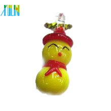 lovely lampwork glass small snowman ornament