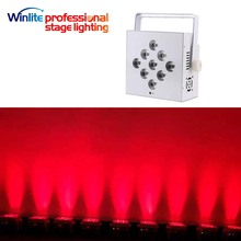 wireless dmx led slim par 9x12w 4in1/5in1 rgbwa battery flat par for events wedding parties