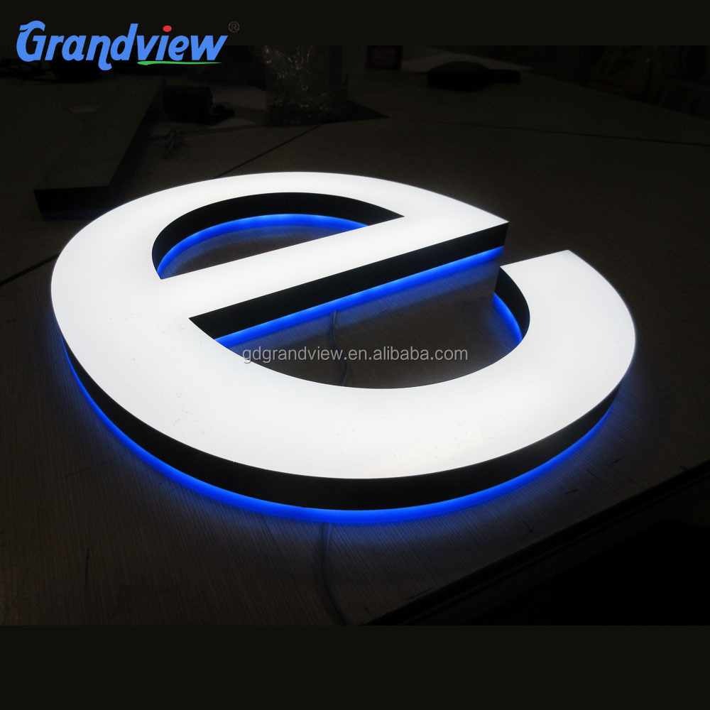 Grandview backlit letter sign loving LED logo build up acrylic signage