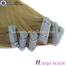 New Style Hot Sale Top Quality 100% Remy Skin Weft Pu Glue Virgin Tape Tape In Hair Extentions
