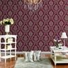 Red royal vinyl coated wallcovering Fancy wall paper 2015