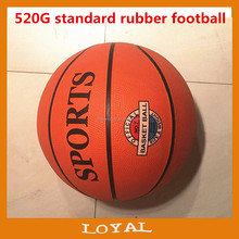 7# rubber basketball, 520g
