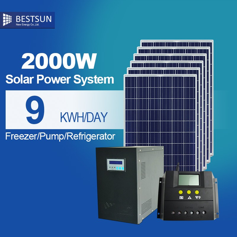 BESTSUN 2000W home solar power station,mini solarpower plant/2KW solar energy system price/solar panels in pakistan karachi