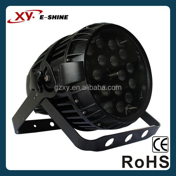 China outdoor rgbw led par can light 18x10w waterproof par with zoom