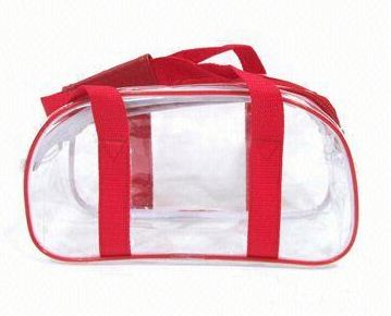 image small transparent pvc cosmetic bag made in China