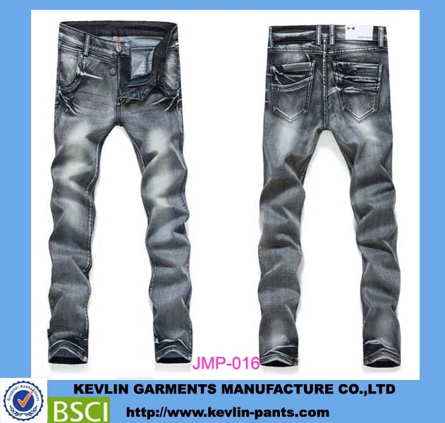 JMP016 garment factory wholesale cheap no name brand denim jeans for men