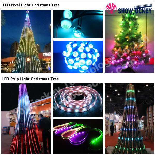 christmas decoration led light garden supplies 3d motif ball tree with blue and white ball