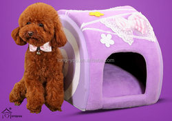 pink princess dog house luxury folding dog house