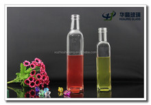 500ml Custom made glass olive oil bottles with pour and stopper