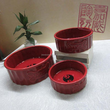 Red CERAMIC PET BOWL(Style2)