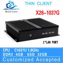 2015 newest model CPU celeron C1037U 4g ram DDR3 factory direct support hd video VGA thin client laptop computer