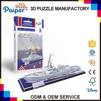 Piaper ship puzzle handmade toy warship model