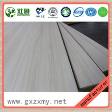 Excellent Grade Lumber Strips Core Melamine Faced Eco Wood Board For Exhibition Shelves