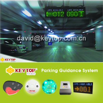Shopping mall Ultrasonic detector parking guidance system CE approved RS 485 Communication
