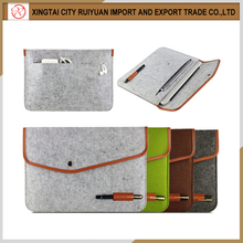 China supplier selling felt laptop sleeve/felt laptop case with extra pocket for accessories