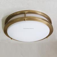 UL CUL Listed Brushed Nickel Hotel Bathroom Glass Ceiling Light