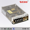 China Professional manufacturer camera led smps 60w 12v 5a power supply