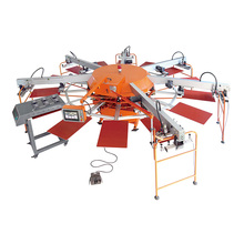 automatic textile screen printing machine