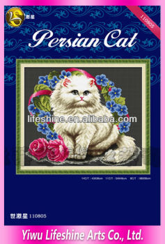 home decro cross stitch cats embroidery designs tapestry craft
