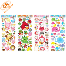 Cartoon Clear Static Sticker For Window Decoration / Car Decoration