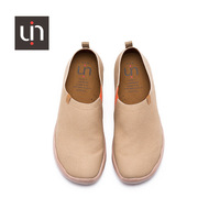 UIN plain Camel color canvas simple man shoes