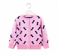 Korean girls sweater knit cardigan jacket butterfly designs for girl